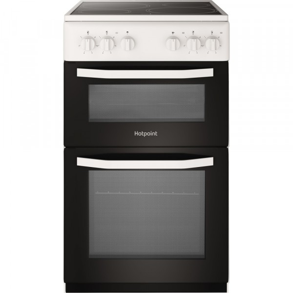 Hotpoint HD5V92KCWUK White 50cm electric cooker
