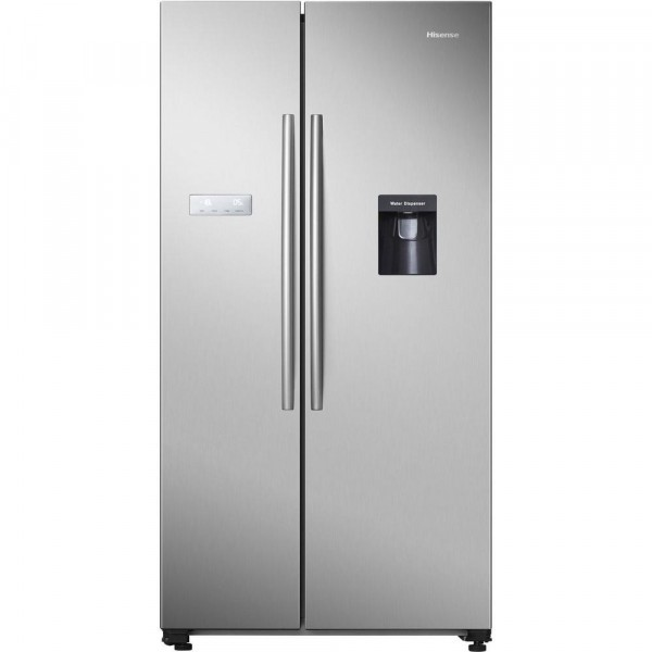 Hisense RS741N4WC11 American Style Fridge Freezer - Stainless Steel - A+ Rated
