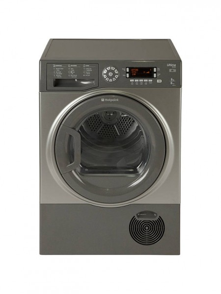 Hotpoint Ultima SUTCD97B6GM Freestanding Tumble Dryer, 9kg Load, B Energy Rating, Graphite