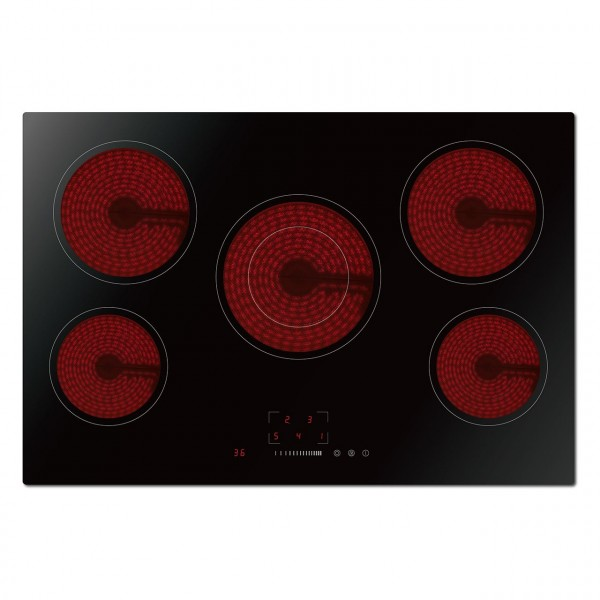Statesman ECH77TC 77cm 5 Zone Ceramic Hob Touch Control - Black