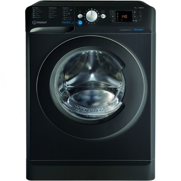 Indesit BWE91483XKUKN 9Kg Washing Machine with 1400 rpm in Black NEW D Energy rating