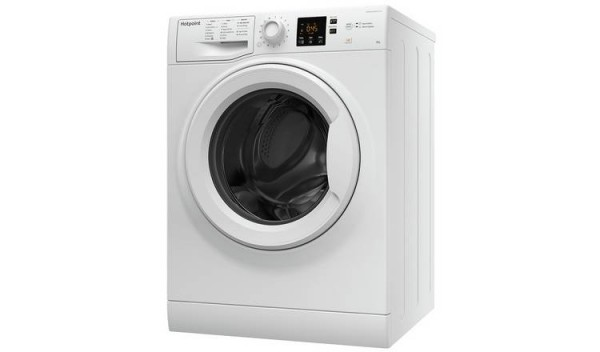 Hotpoint 1600rpm 8kg load washer NSWM863CW Invertor motor & Steam