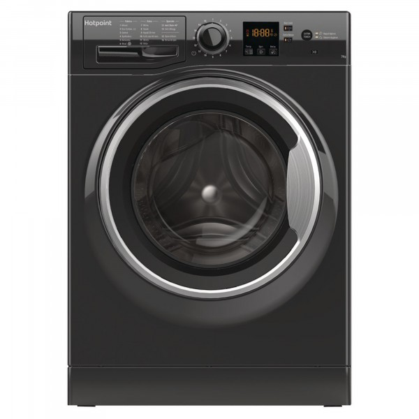 Hotpoint Washer in Black NSWF743UBSUK 1400 spin 7kg load