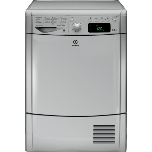 Indesit silver tumble dryer IDCE8450BSH