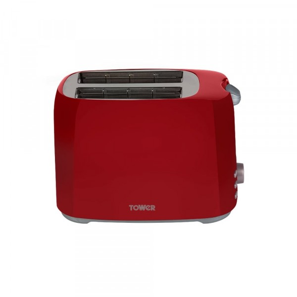 Tower 2 slice toaster in red T20013RED