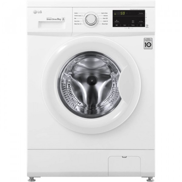 LG Washer 1400rpm 8kg Direct Drive F4MTO8WE NEW D Energy rating
