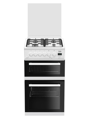 Beko EDG506W White Twin Cavity Gas Cooker