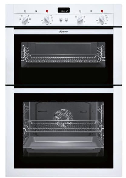 NEFF U14M42W3GB Built in Double Oven