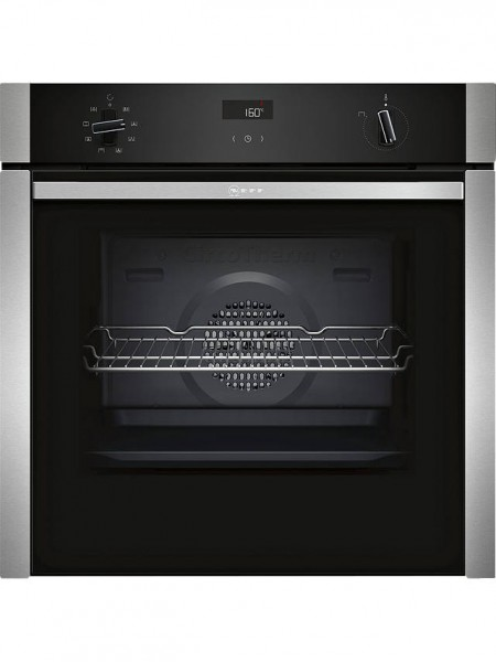 Neff B4ACF1AN0B Slide and Hide Built-In Single Oven, Stainless Steel