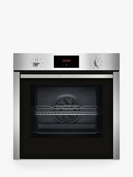 Neff B3CCC0AN0B Slide and Hide Built-In Single Electric Oven, 60cm, A Energy Rating, Stainless Steel