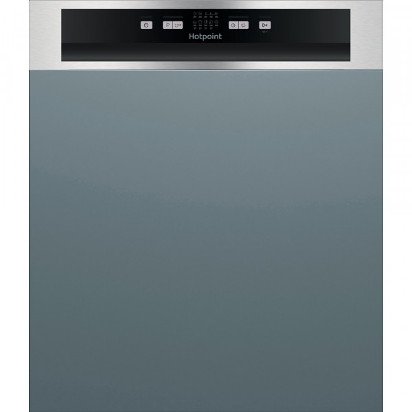Hotpoint HBC2B19XUKN Semi Integrated Standard Dishwasher - Silver Control Panel - A+ Rated