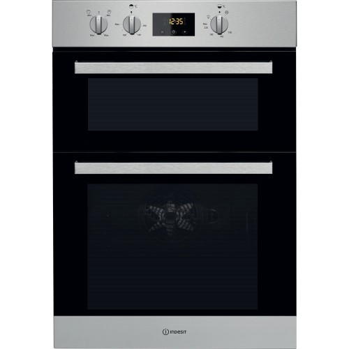 Indesit IDD6340ix Built in double oven integrated with timer