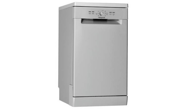Hotpoint slimline 45cm Dishwasher in Silver HSFE1B19S NEW F Energy rated