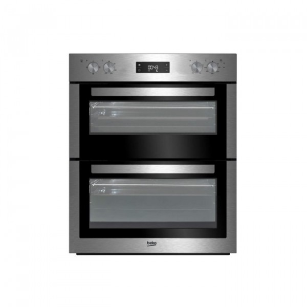 Beko BTF26300 Built under Double Oven in Stainless Steel