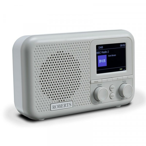 Roberts PLAY M4 GREY DAB/DAB+/FM Radio RDS 6-Station Presets White