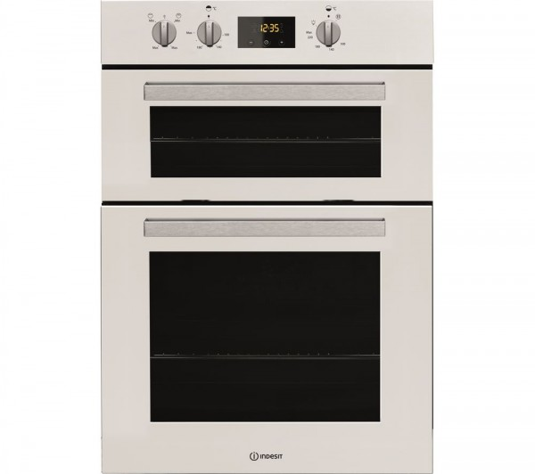 Indesit IDD6340WH Built in white double oven with timer