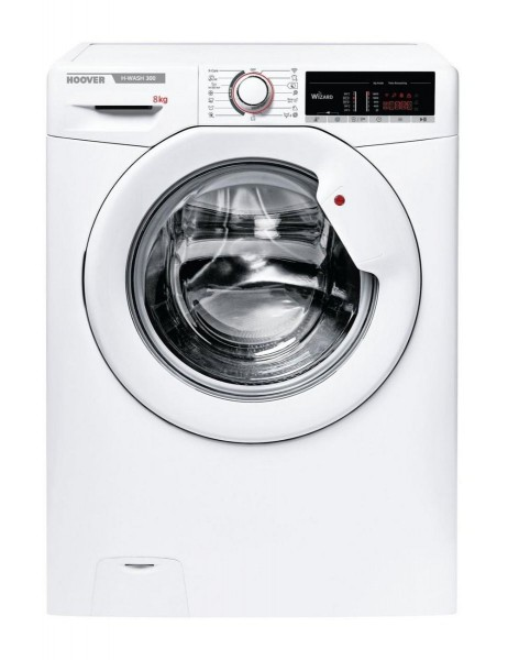 Hoover H3W58TE Washing Machine in White, 1500rpm 8Kg A+++ Rated