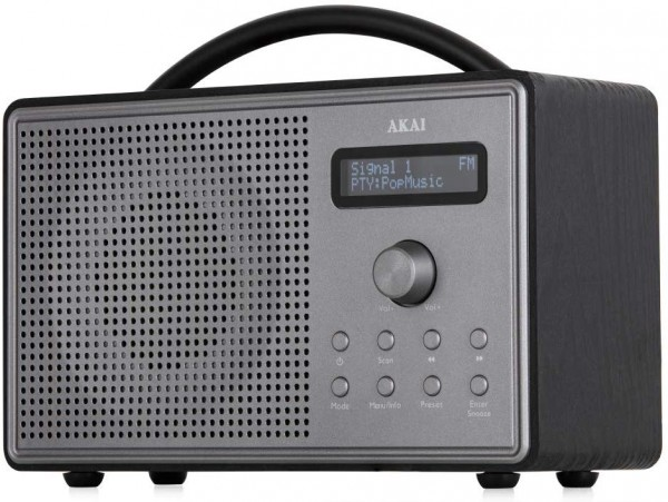 Akai A61035 black wood radio