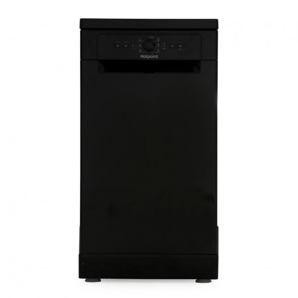 Hotpoint Slimline 45cm Dishwasher in Black HSFE1B19BUK