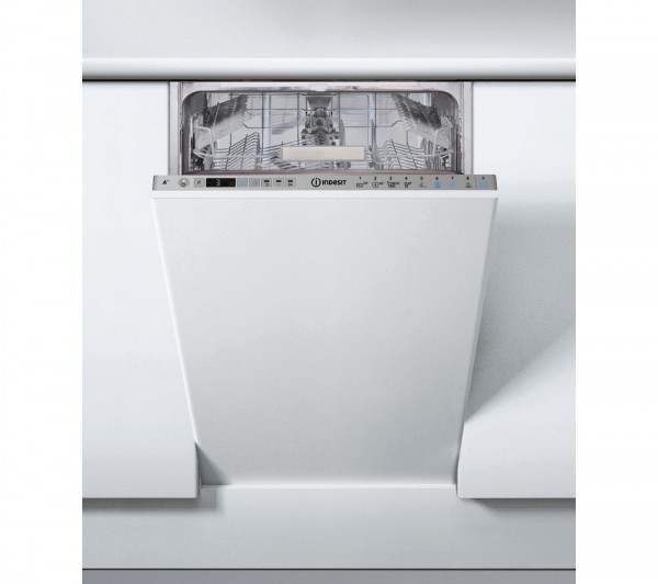 Indesit DSIO3T224EZ 45cm Fully Integrated Dishwasher, 10 Place Settings A++