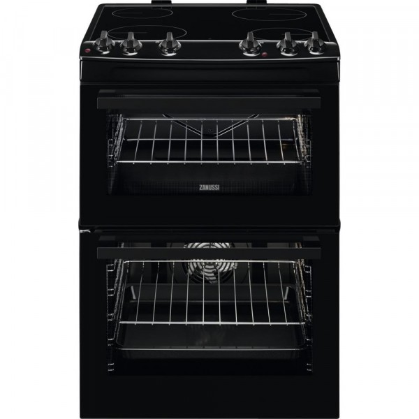 Zanussi ZCV66050BA Electric 60cm Black Cooker