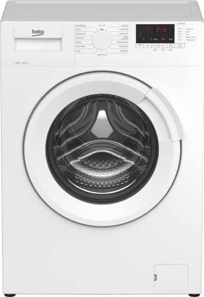Beko WTL84141W 8kg 1400 Spin Washing Machine - White - A+++