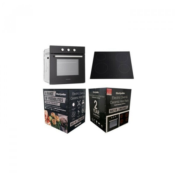 Montpellier SFCP10 Built In Oven And Ceramic Hob Pack