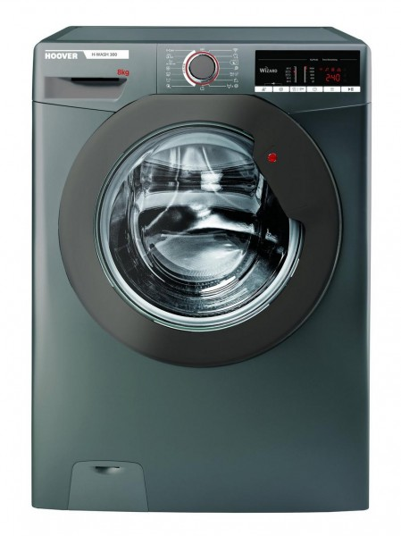 Hoover H3W58TGGE Washing Machine in Graphite, 1500rpm 8Kg A+++ Rated
