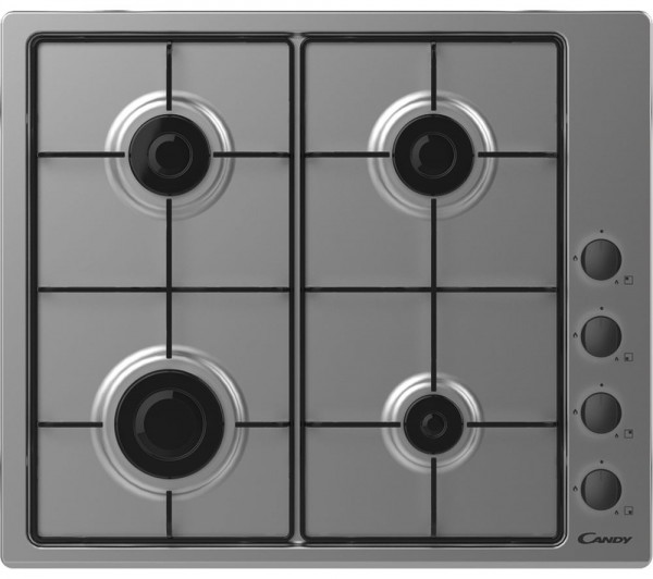 Candy CHW6LBX Stainless Steel Gas Hob