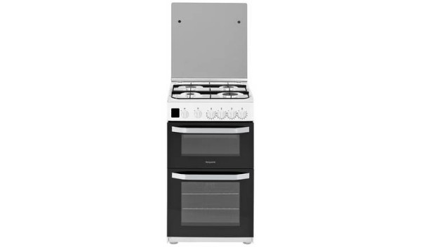 Hotpoint HD5G00CCW Double Gas Cooker - White