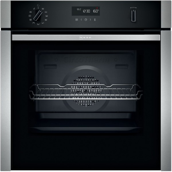 NEFF B5ACH7AH0B N50 Slide&Hide Pyrolytic Electric Built-in Single Oven - Stainless Steel