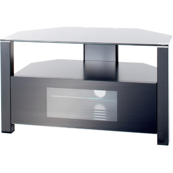 Alphason ABRD800BLK Black tv stand with drop down door
