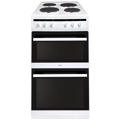 Amica AFS5500WH Freestanding Cooker Solid Plate - Double Oven
