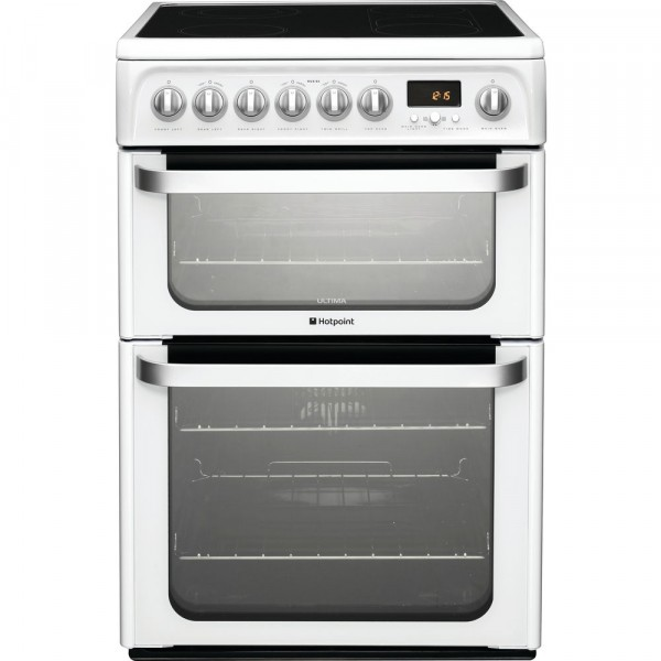 Hotpoint HUE62PS Double oven cooker with timer HUE62P