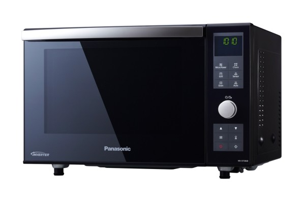 Panasonic NNDF386BBPQ Black Microwave Oven with Grill