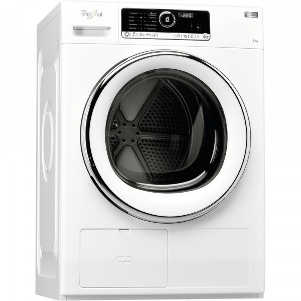 Whirlpool HSCX90423 9kg Heat Pump Tumble Dryer with steam & wool care