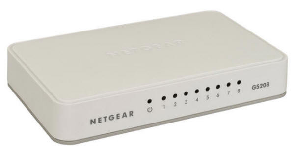 Netgear GS208 8 Port Gigabit LAN Switch