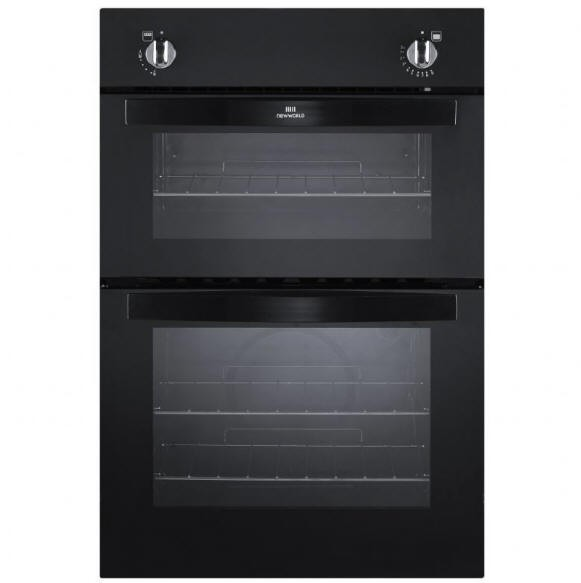 Newworld NW901GBLK Built In Twin Cavity Gas Oven