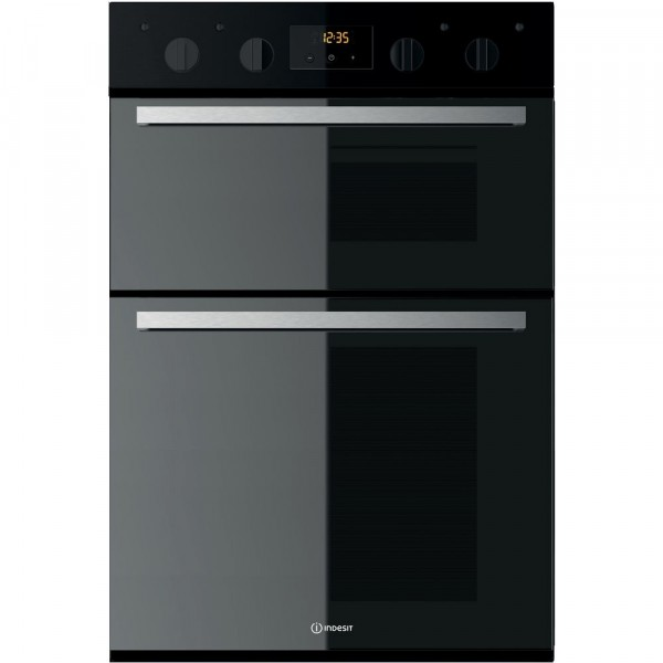 Indesit IDD6340 Black Built In Double Oven IDD6340BL