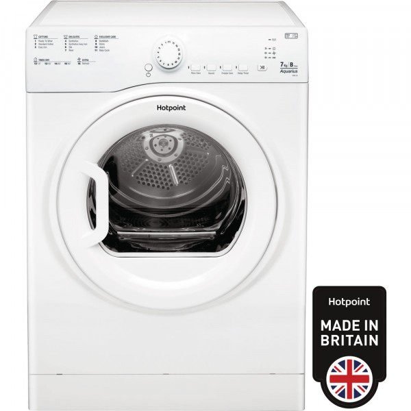 Hotpoint TVFS73BGP White Vented Sensor Tumble Dryer