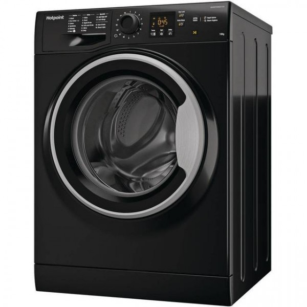 Hotpoint Washer NSWM1043CBSUK 1400spin 10kg load Black finish