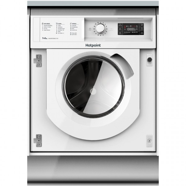 Hotpoint BIWDHG7148 Integrated 7Kg / 5Kg Washer Dryer with 1400 rpm - B Rated
