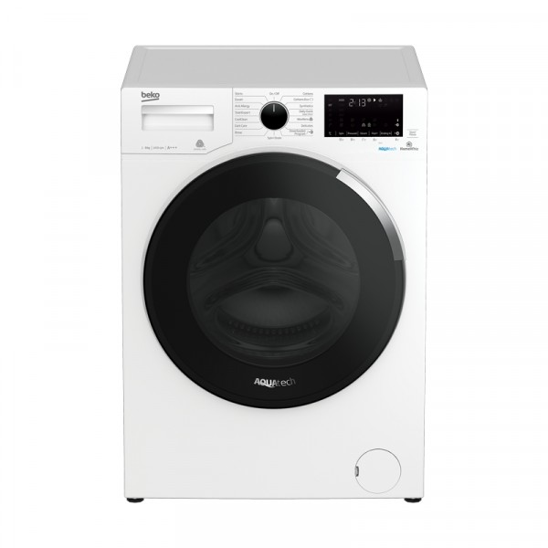 Beko Aquatech washer WY94OP44EW 9kg load 1400 spin Steamcare