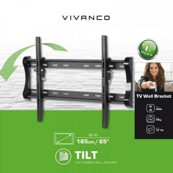 "Vivanco BTI6060 Tilt TV Bracket upto 65"" Tv"
