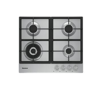 Blomberg GEN73415 Gas Hob in Stainless Steel with Knobs & Cast Iron Pan Supports