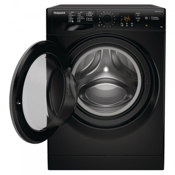 Hotpoint NSWF943CBSUKN BLACK 9kg 1400spin Washer New D Energy Rating