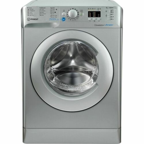 Indesit Silver 1400spin 8kg load washer BWA81483XSUKN