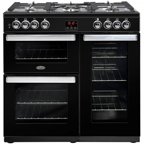 Belling Cookcentre 90G Black 90cm Rangecooker 444444077
