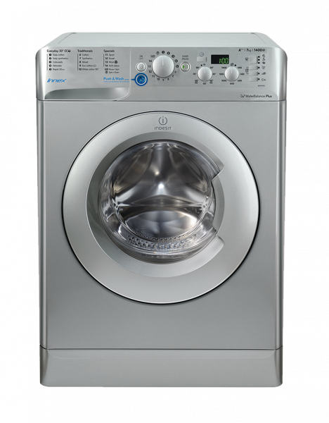 Indesit BWD71453S Silver 1400spin washing machine
