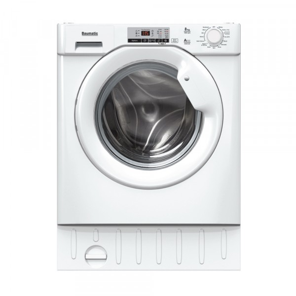 Built In Washer Part - 36: Baumatic BWMI148D80 1400 Spin 8kg Built In Washer With Steam BWMI148D-80